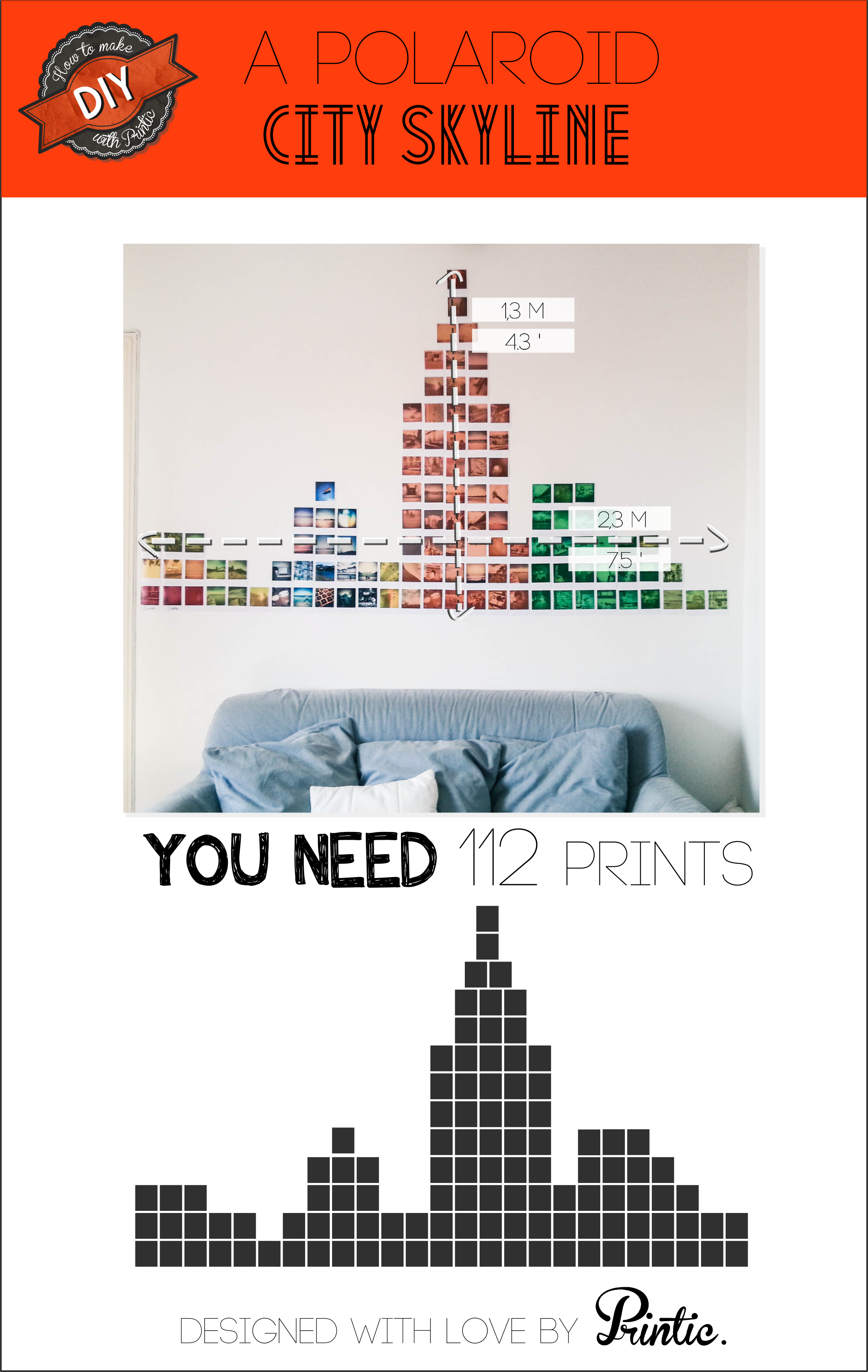 Printic diy skyline wall decoration with polaroids photo printic diy skyline wall decoration with polaroids amipublicfo Image collections