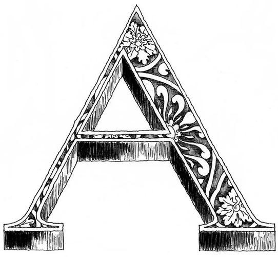 Image Detail For -Part Of A Decorative Alphabet. A Single ...
