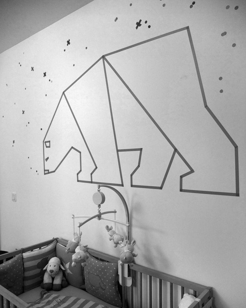 10 DIY Wall Decorations With Washi Tape | Diy wall decorations, Diy ...