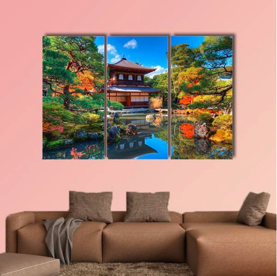 #wallart #ginkakujitemple #japan #walldecor #wallhanging #canvasprint #wall #art #decor #home #livingroomdecor #decoration #propeller