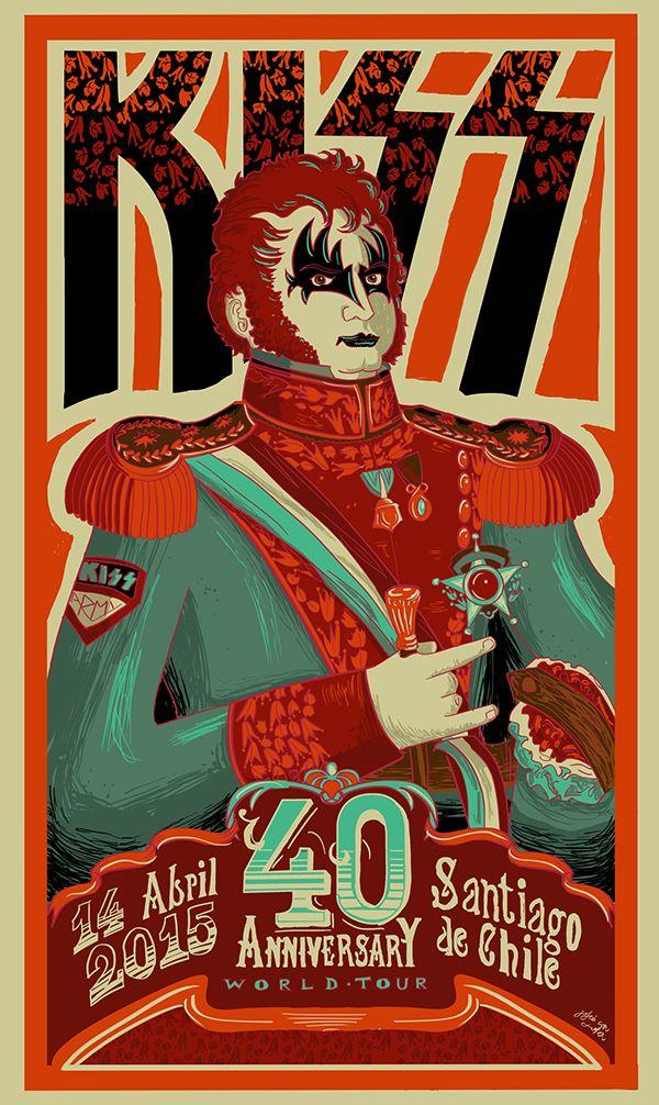 Kiss En Chile Gig Poster Rodolfo Jofre On Behance Gig