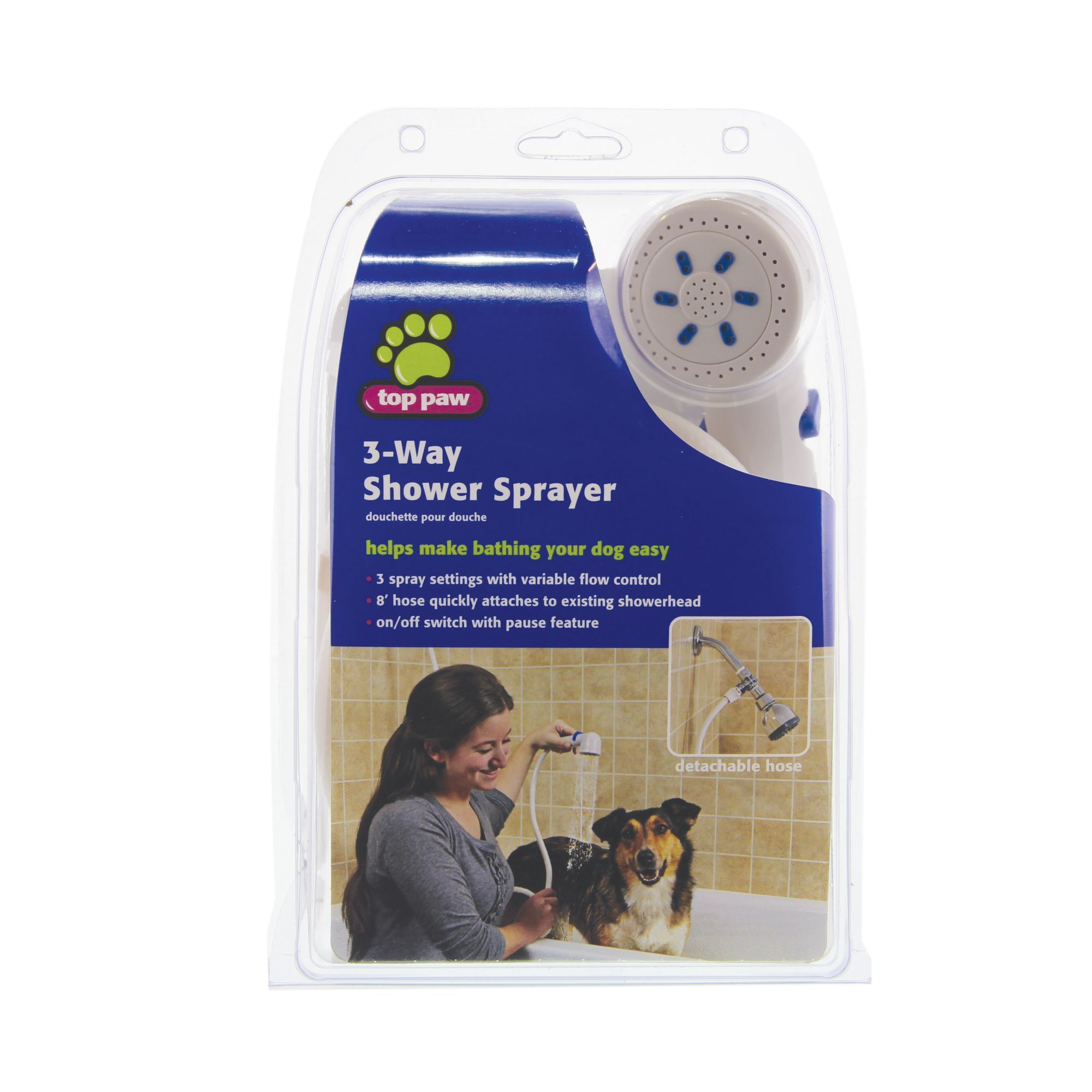 Top Paw 3 Way Shower Pet Sprayer Dog Grooming Supplies Dog