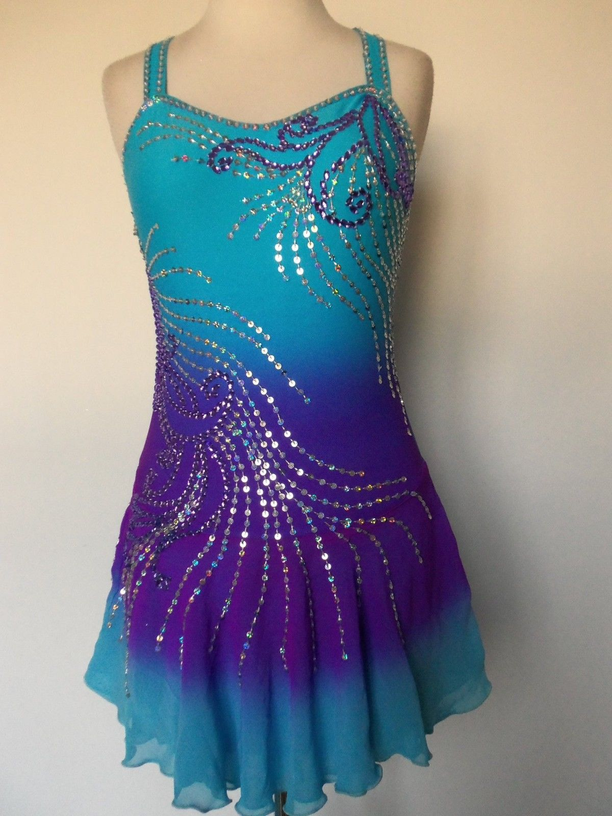 New Figure Ice Skating Baton Twirling Dress Costume Child L | eBay ...
