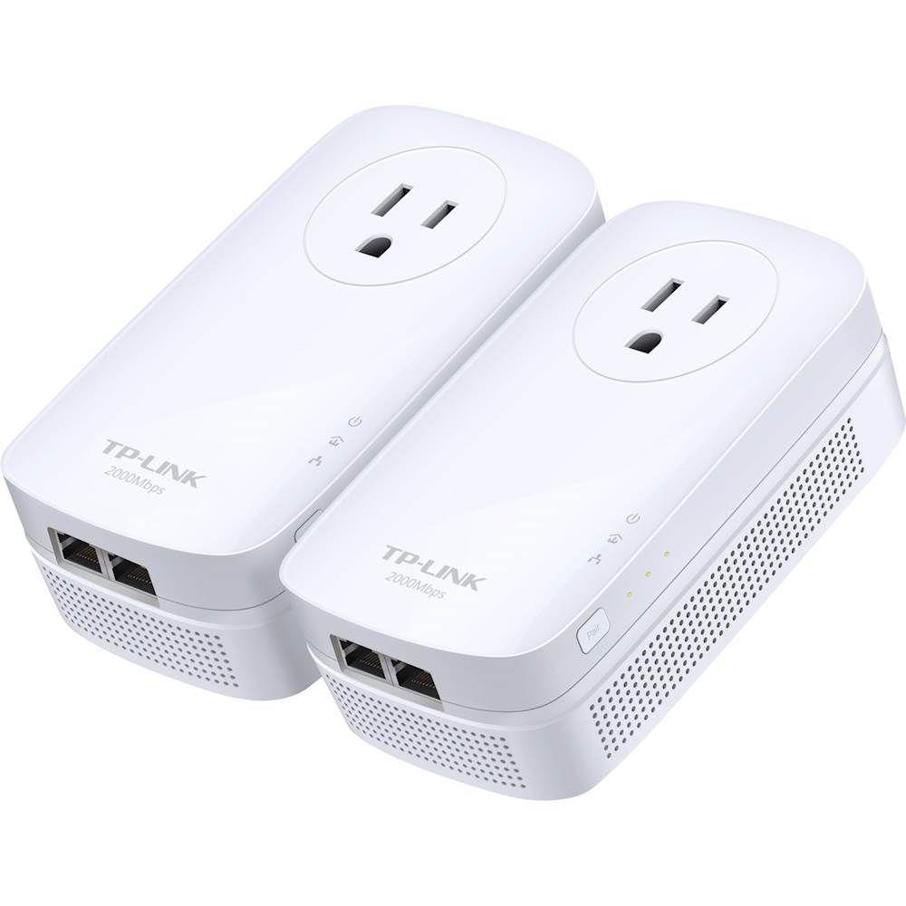 Tp Link 2 Port Gigabit Powerline Starter Kit White Tp Link Home Network Kit