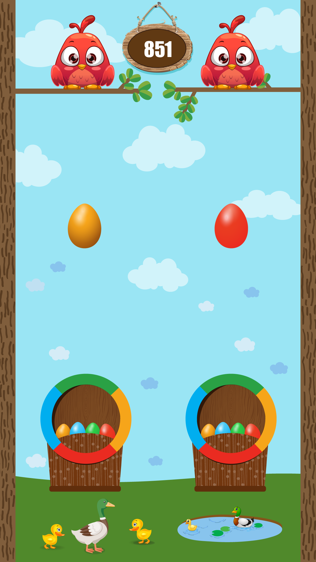 Egg Catch Challenge brain training puzzle game is great