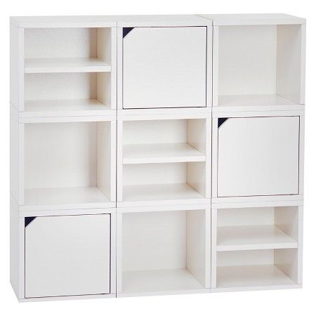 Way Basics 9 Cubby Connect Cube System Modular Storage Bookcase - Natural White - Lifetime Guarantee  sc 1 st  Pinterest & Way Basics 9 Cubby Connect Cube System Modular Storage Bookcase ...