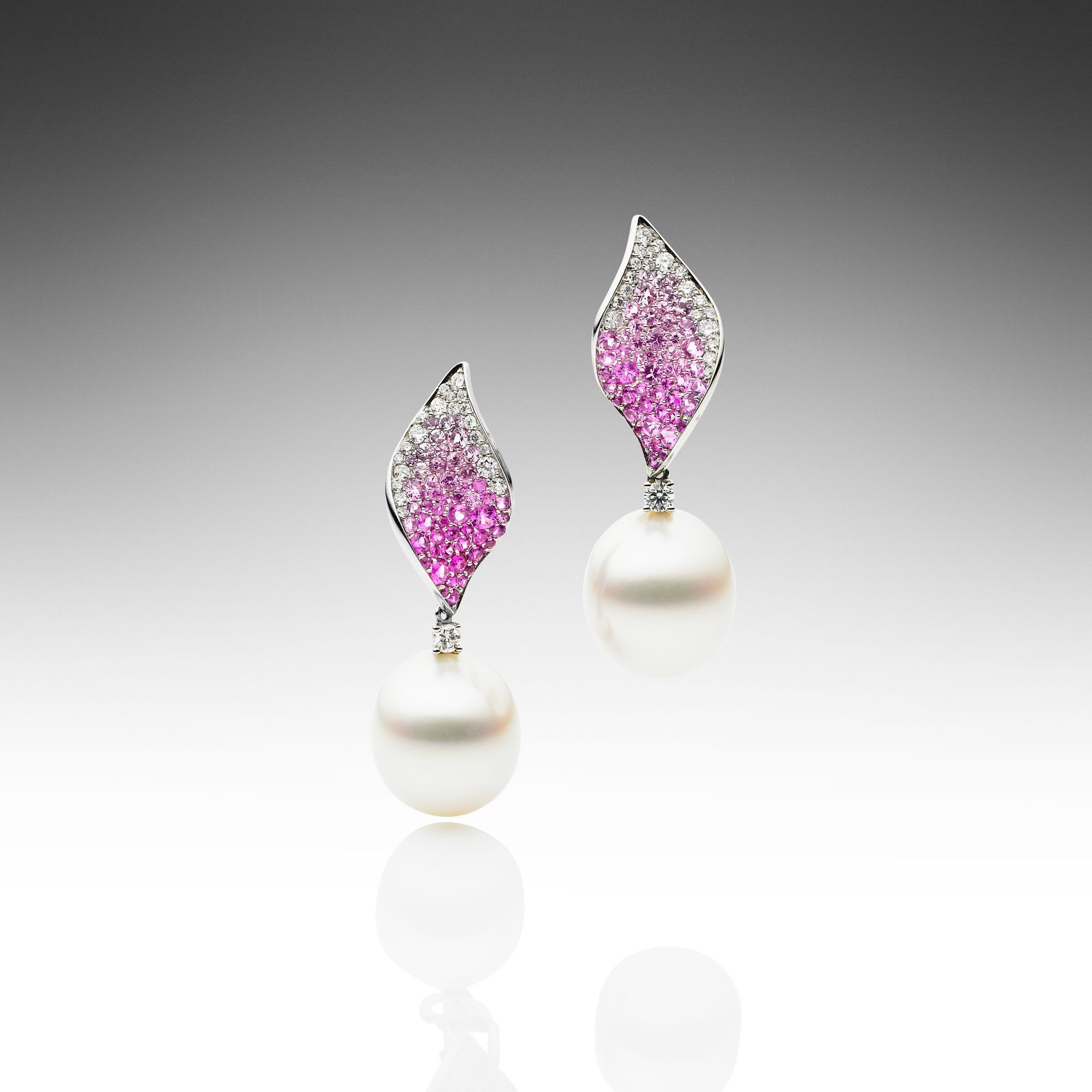 Pink Paradis Earrings Paspaley Pearls The Most Beautiful In World
