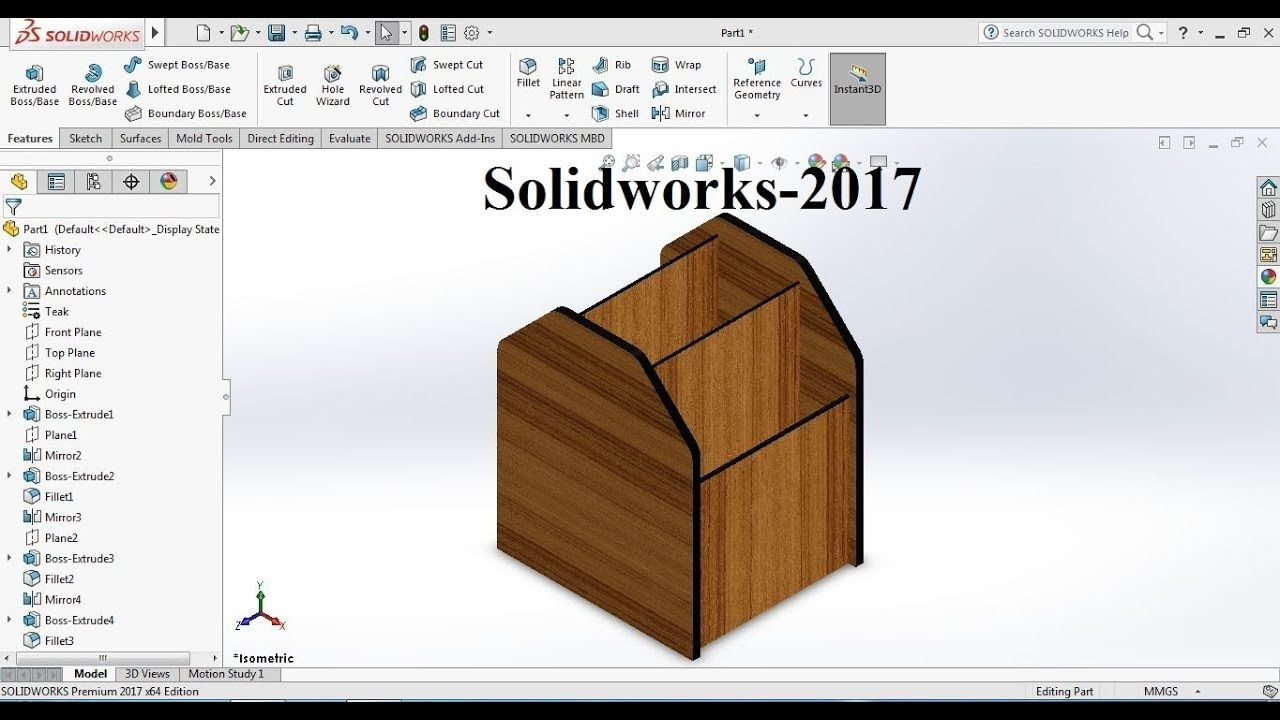 Solidworks Tutorial 2017 For Beginners Exercise 59 Wood Pen Pot Sketching Tools Wood Pens Workout For Beginners