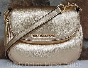 7e89c7d7760b Details about NWT Michael Kors Bedford Flap Crossbody Shoulder Bag ...