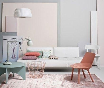 20 id es pour un salon la d co pastel pastel interior stools and interiors. Black Bedroom Furniture Sets. Home Design Ideas