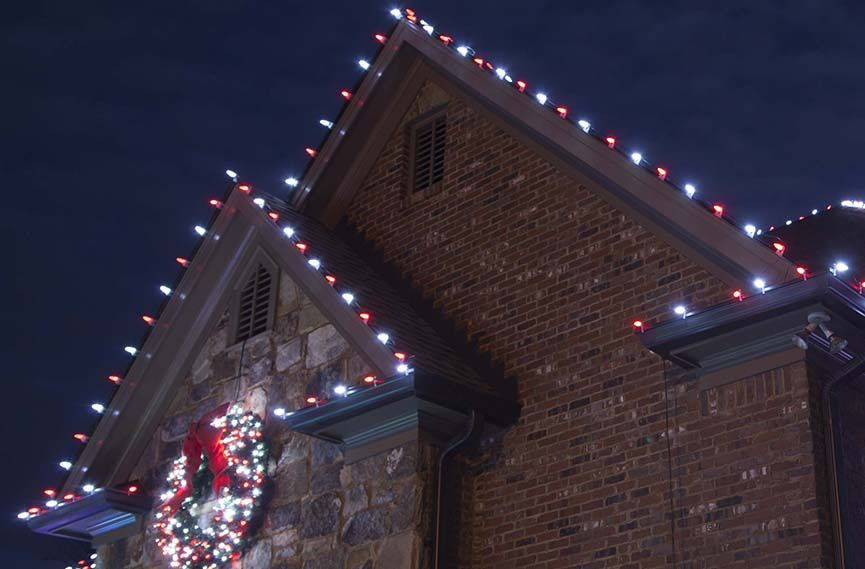 Outdoor Christmas Lights Ideas For The Roof Winter Christmas