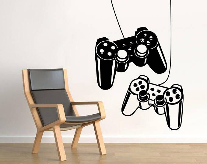 Controllers Gaming Wall Decal Video Gamer Wall Decal Controllers Gaming Ps4 Wall Art Boys Kids Room D Girls Room Wall Art Wall Decals Video Game Wall Art