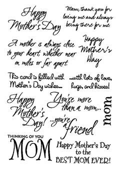 Mother S Day Sentiments For Cards Google Search