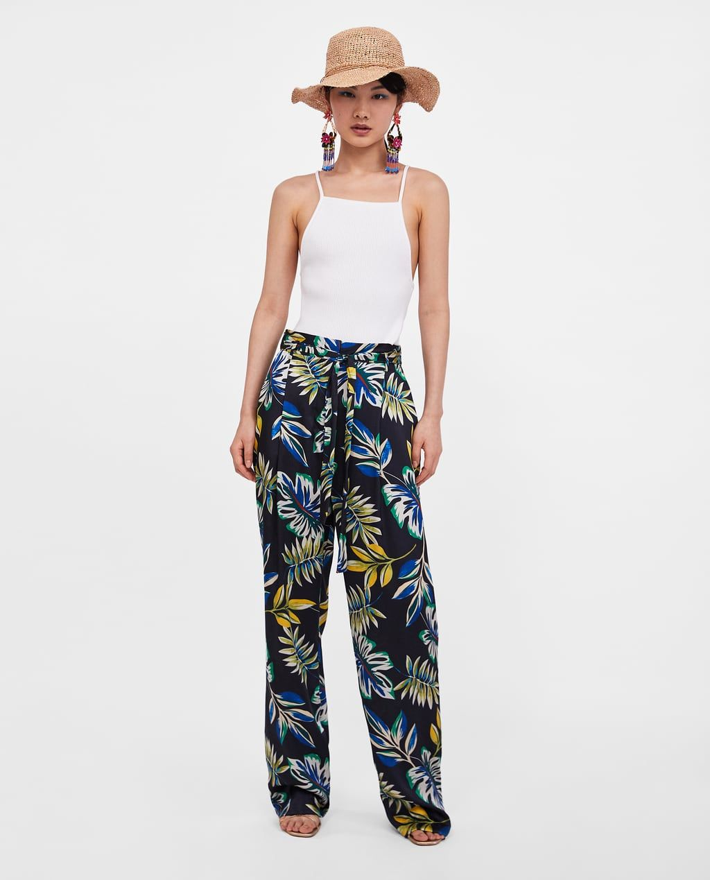 Pantalon Ancho Estampado Floral Ropa Ropa Hippie Look Playero