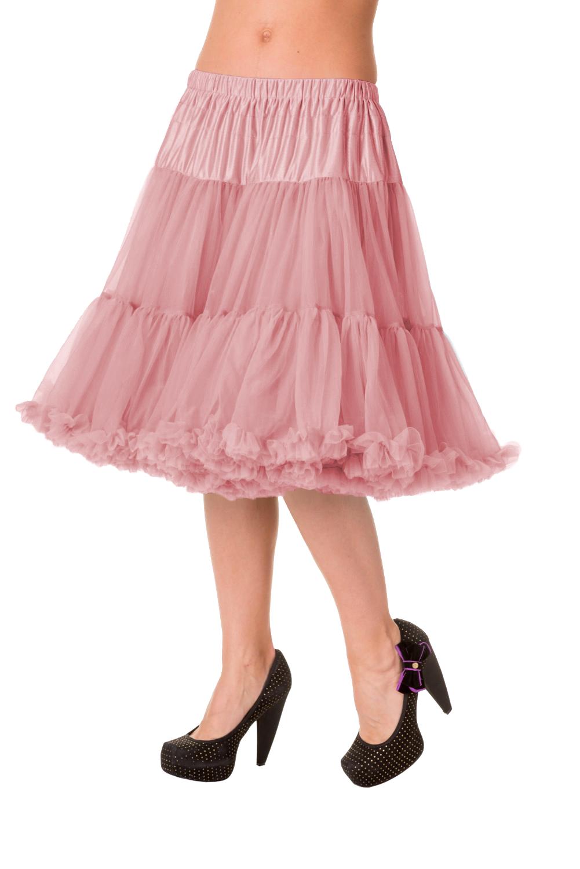 23dff5b76f0f Banned Vintage Pink Spodnička k šatům Spodnička ve stylu 50. let. Krásná  šifónová spodnička k šatům s kolovou sukní