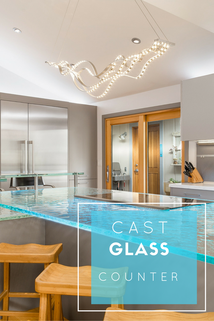 Cast glass countertops have textures on the bottom and can even be ...