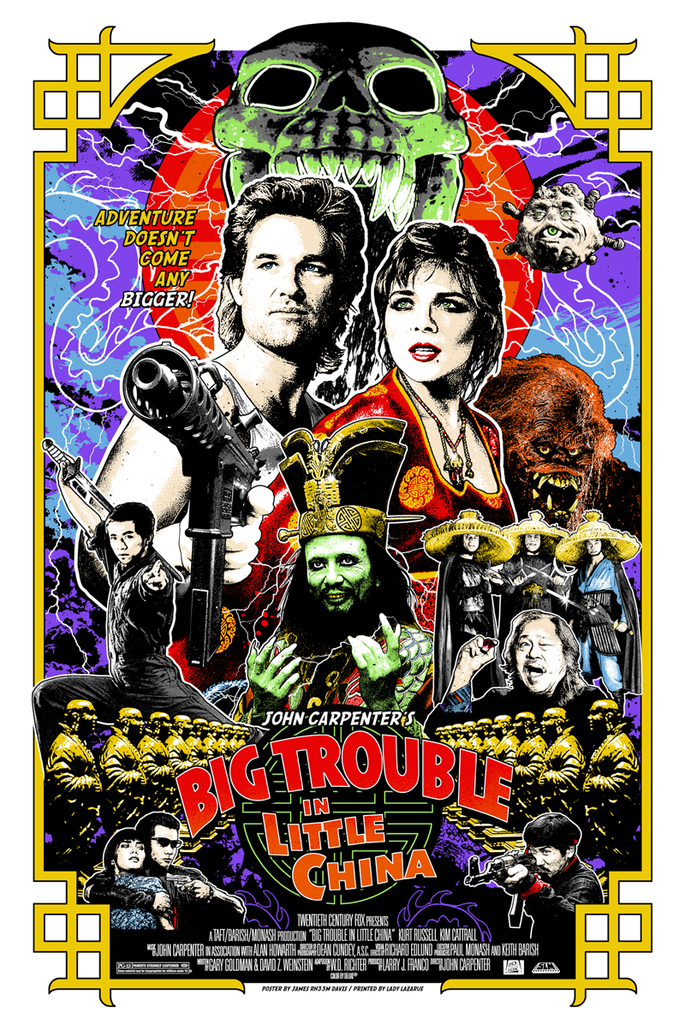 Big Trouble In Little China By James Rheem Davis Poster Art Beautiful Posters Movie Poster Art