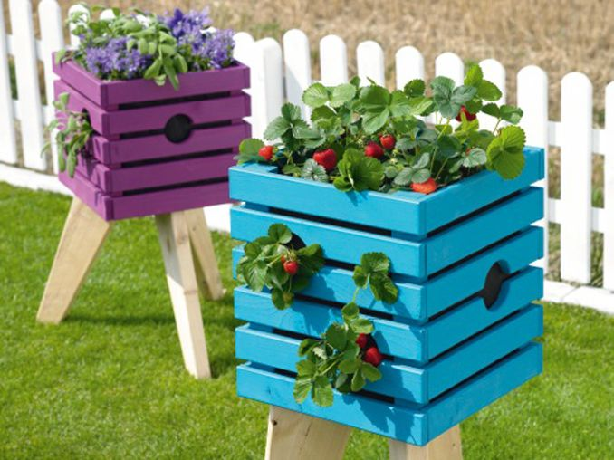 tolles hochbeet selber bauen bunte pflanzenkiste. Black Bedroom Furniture Sets. Home Design Ideas
