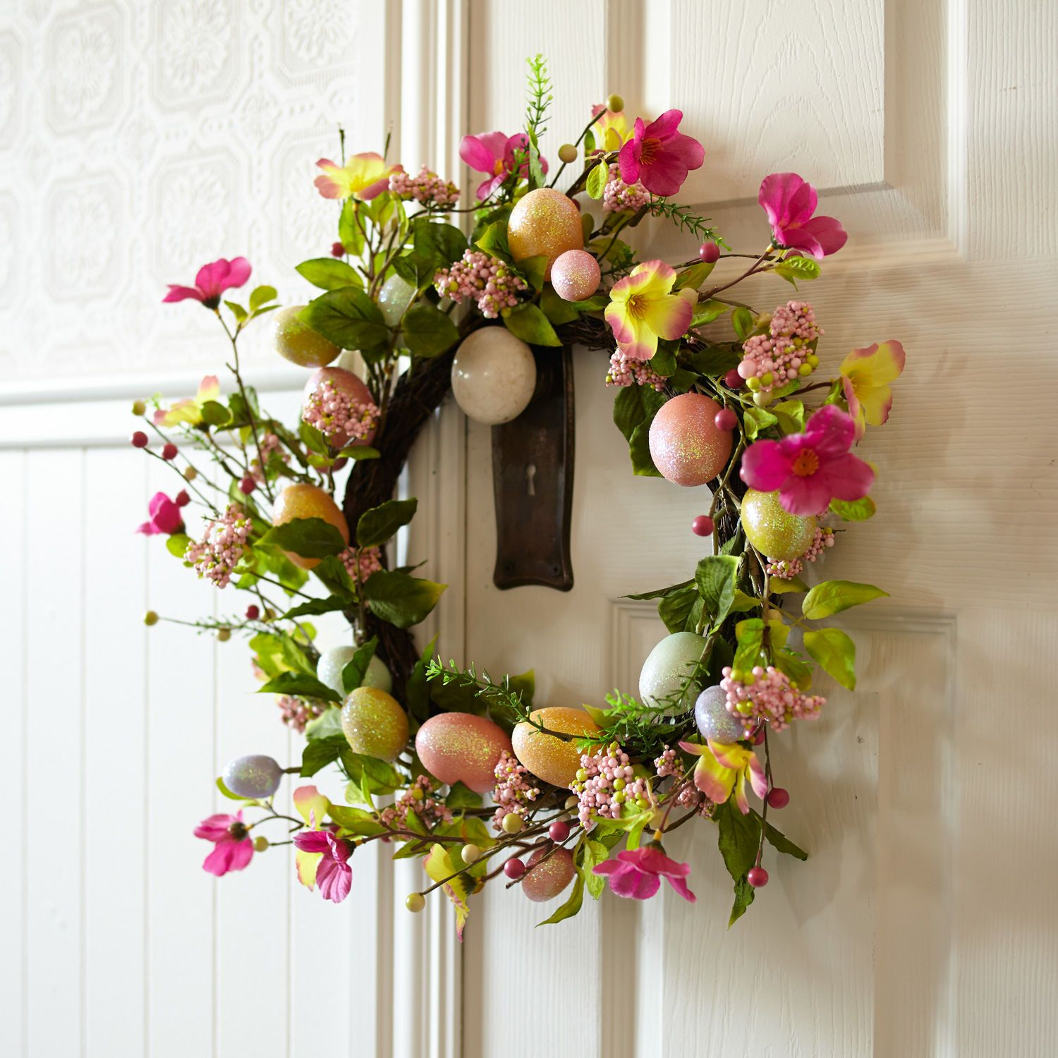 . Floral   Glitter Egg Wreath   Pier 1 Imports   Eastwood Towne Center