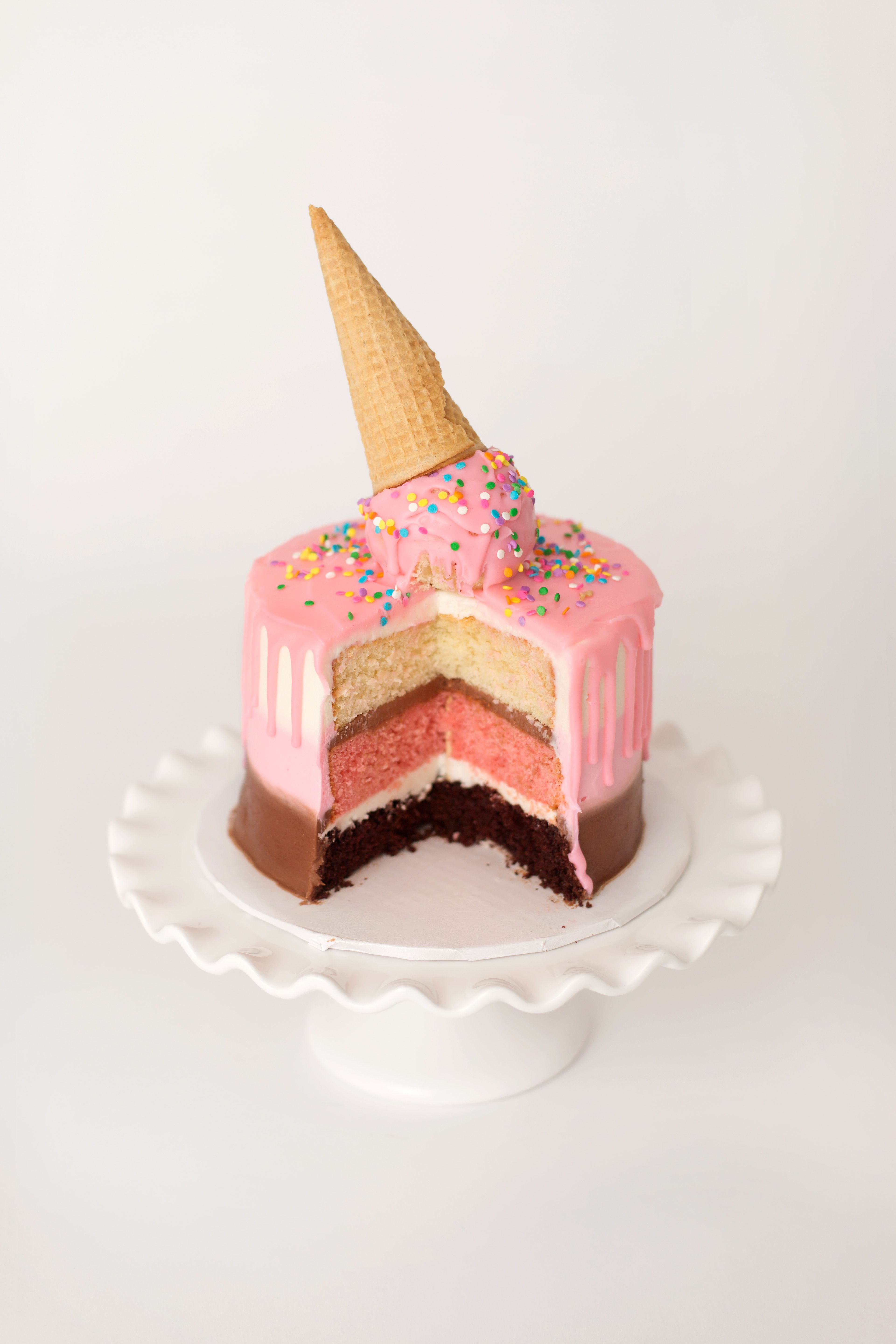 Home (With images) Ice cream cone cake, Ice cream party