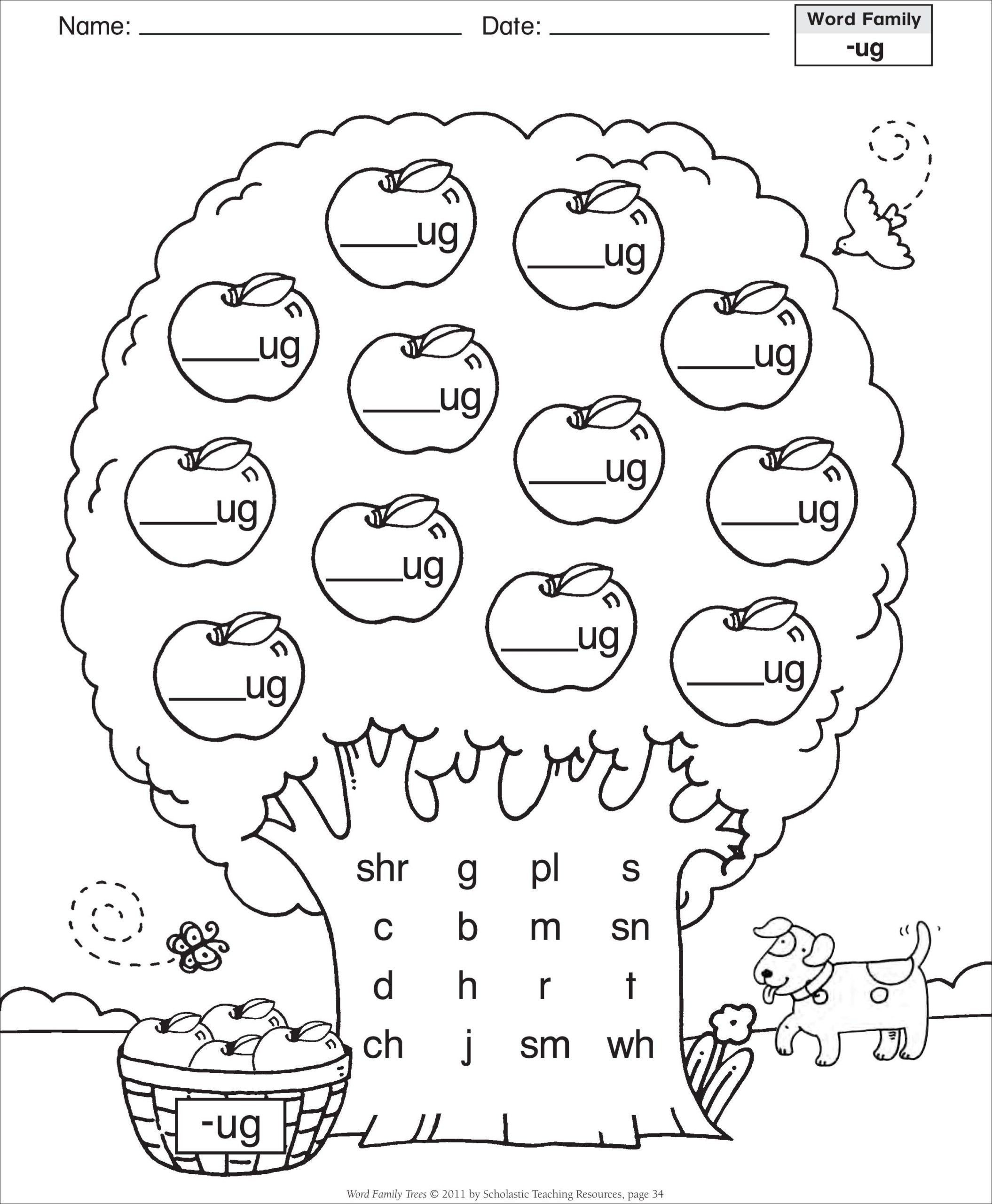 Free Menu Math Worksheets Kindergarten Phonics Worksheets Kindergarten Worksheets Printable Kindergarten Word Families Worksheets