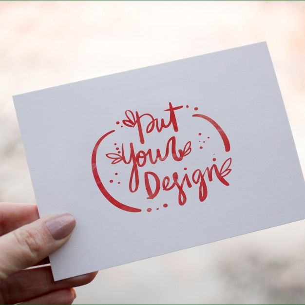 Pin By   On MockUp    Greeting Card