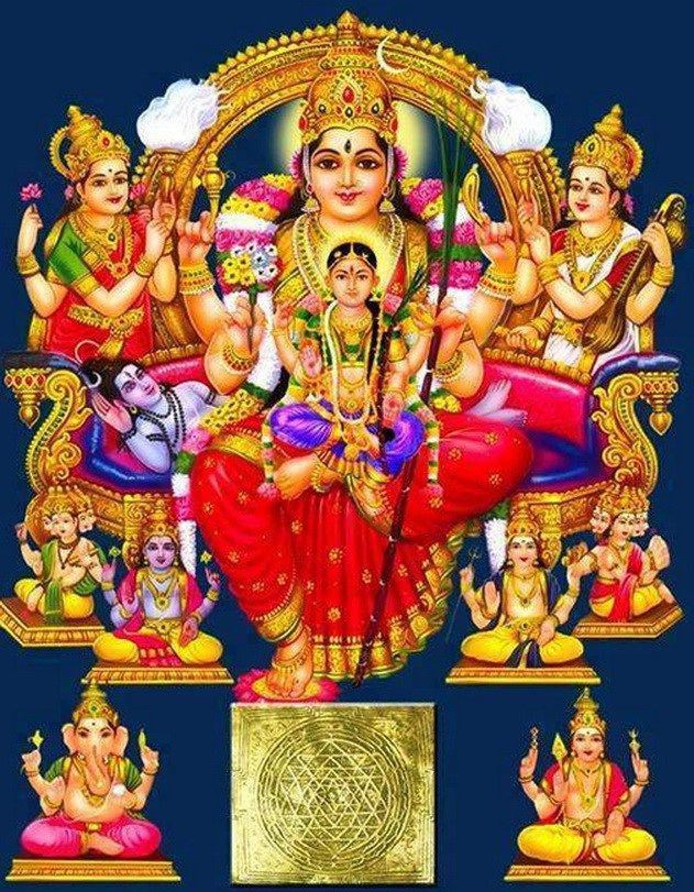 12 Amazing Pictures Of Goddess Lalitha Parameswari Set 3 Kali Goddess Saraswati Goddess Hindu Statues