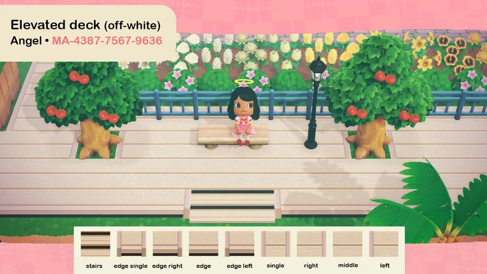 My first design, an elevated deck (offwhite). MA4387