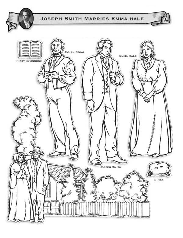 Joseph Smith Marries Emma Hale Coloring Page With Images