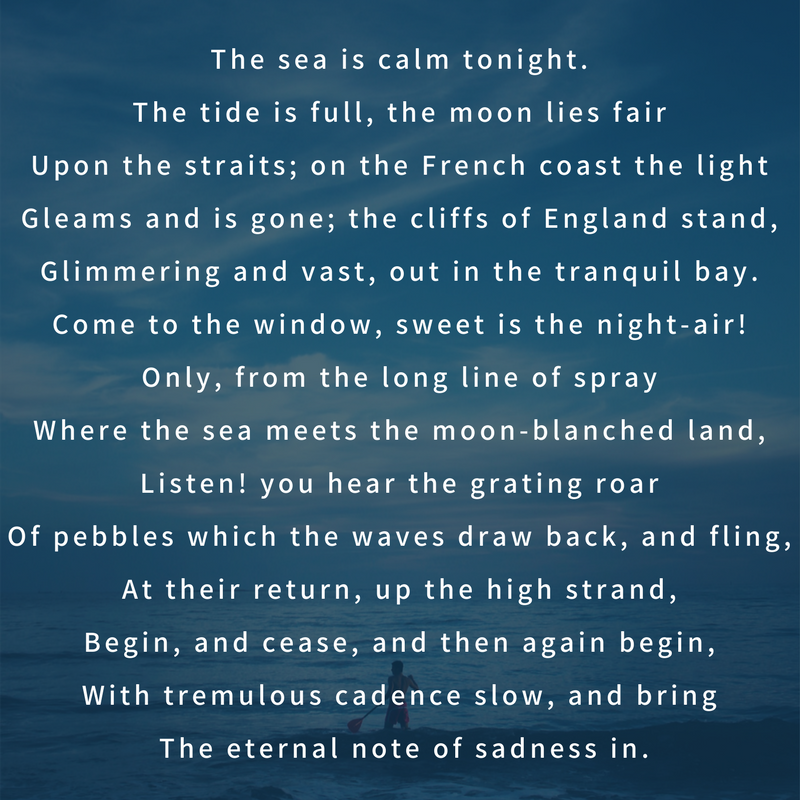 Pin By English Summary On Poetry Dover Beach Gemini Facts Paraphrase