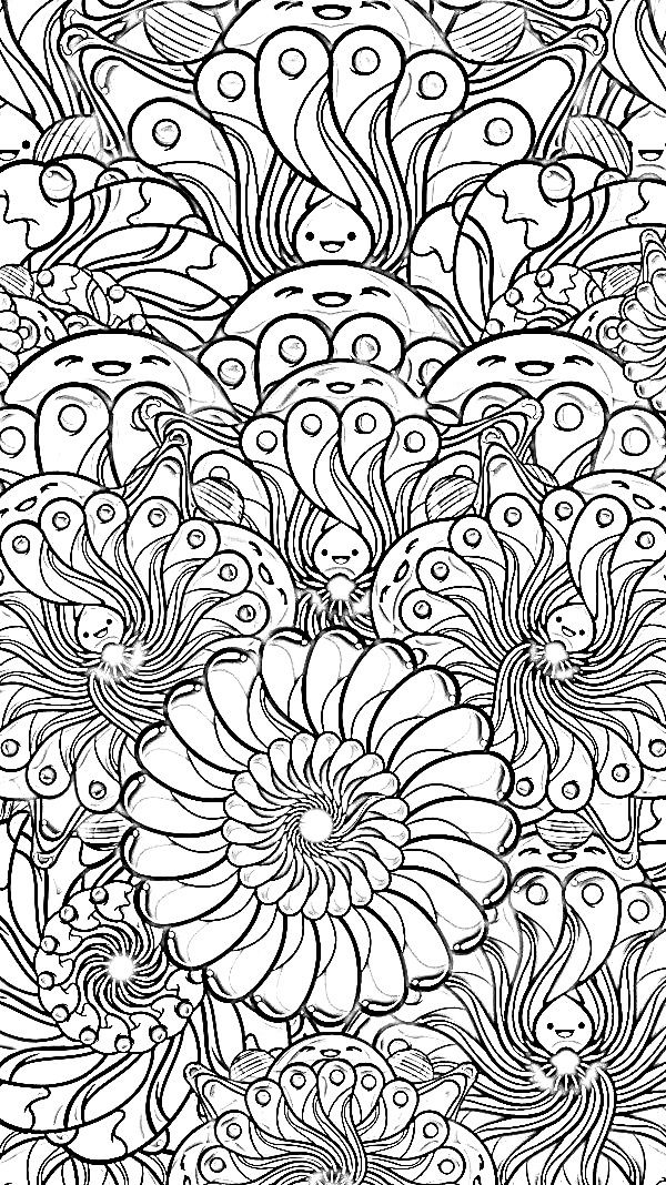 Complex geometric coloring pages free image happiness by for Free complex coloring pages
