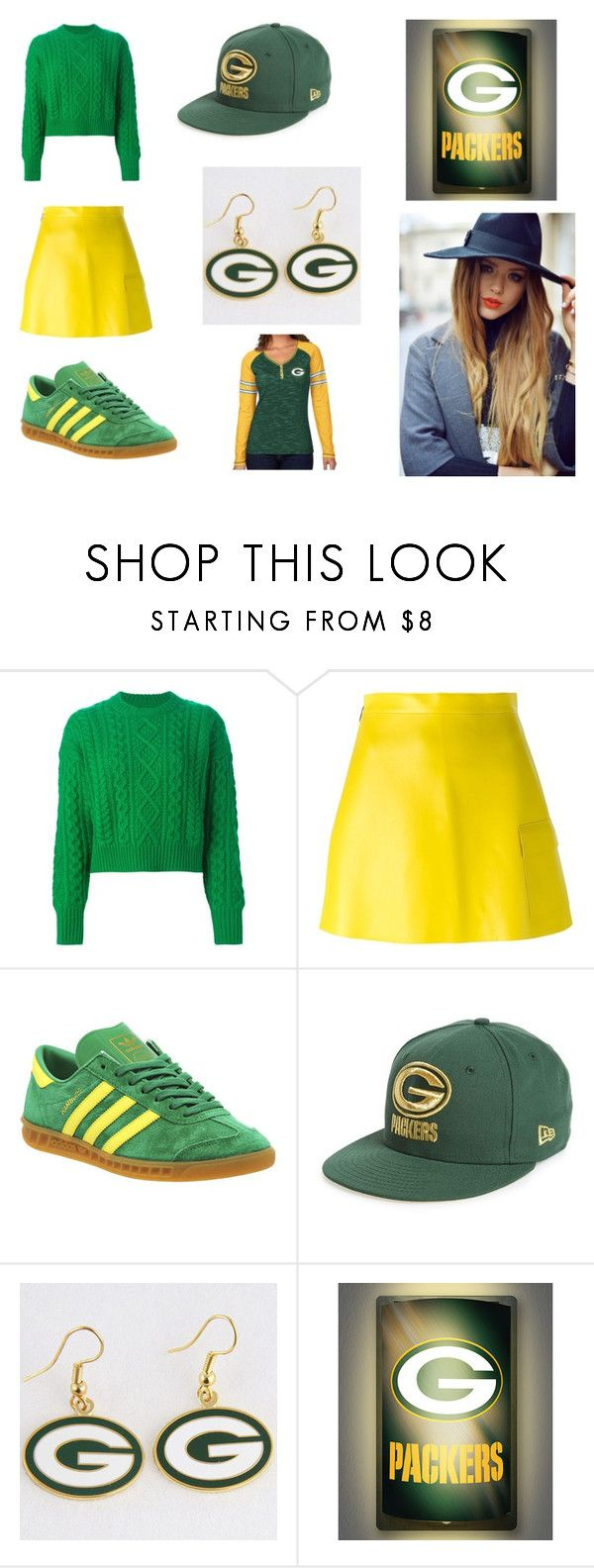 """""""go packers"""" by holy-roller89 ❤ liked on Polyvore featuring Étoile Isabel Marant, MSGM, adidas, New Era and WinCraft"""