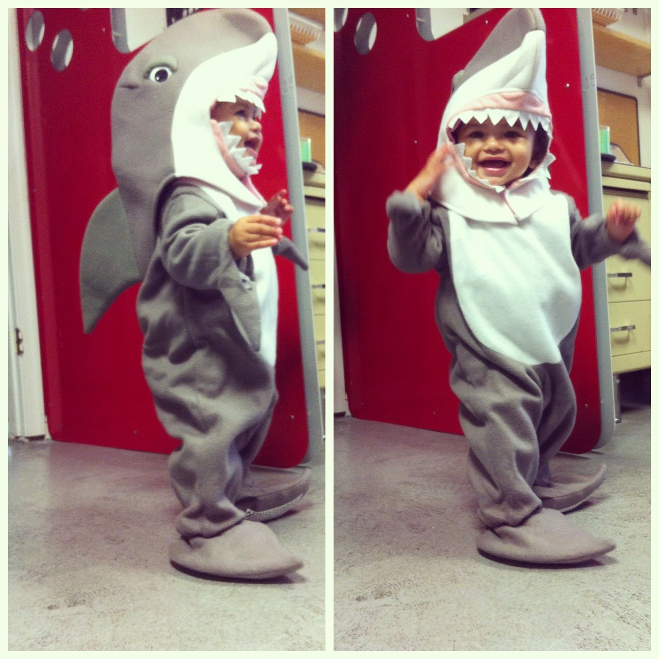 Pin By Cristina Cruz On For The Love Of Baby Shark Halloween Costume First Halloween Costumes Shark Baby Costume