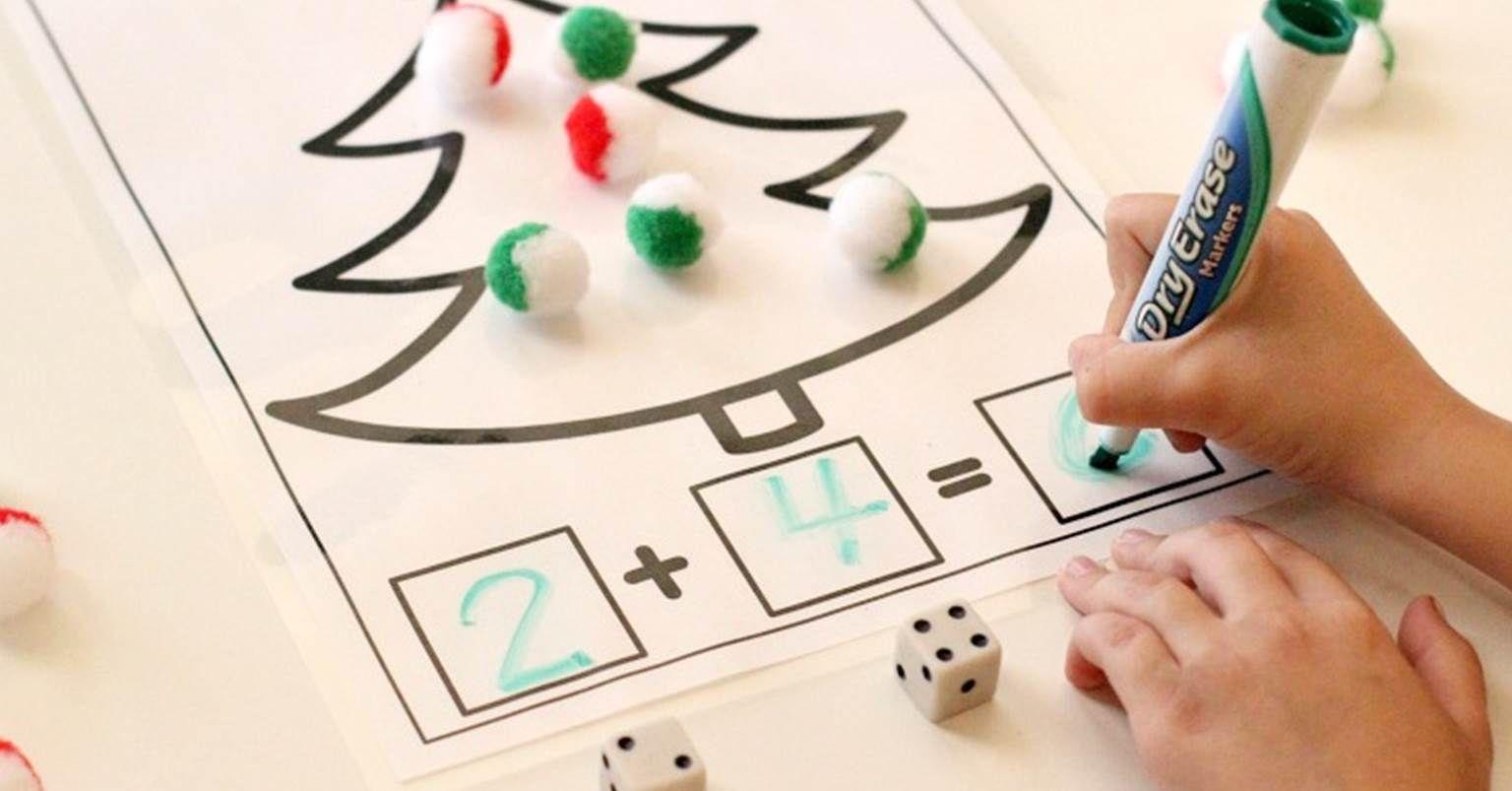 Christmas Addition And Subtraction Math Mats
