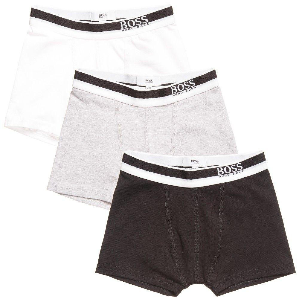 BOSS Boys Cotton Boxer Shorts (Pack of 3) | Boys boxer ...