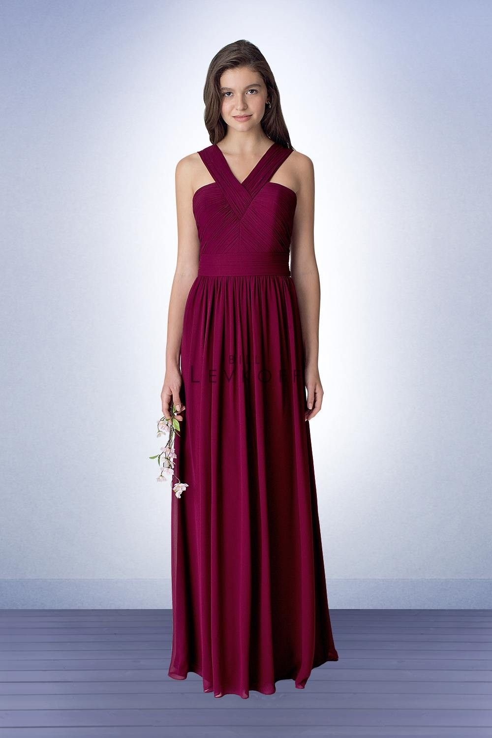 Bill levkoff bridesmaids dress style 1276 perfect bridal bill fall 2016 bill levkoff bridesmaids dress style chiffon gown with vertical ruching accenting the bodice and straps ombrellifo Images