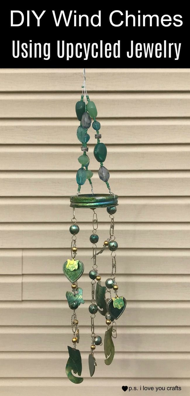 See how I turned a tacky cat necklace into a great set of wind chimes  #thrift #upcycle #windchimes # | Pinterest