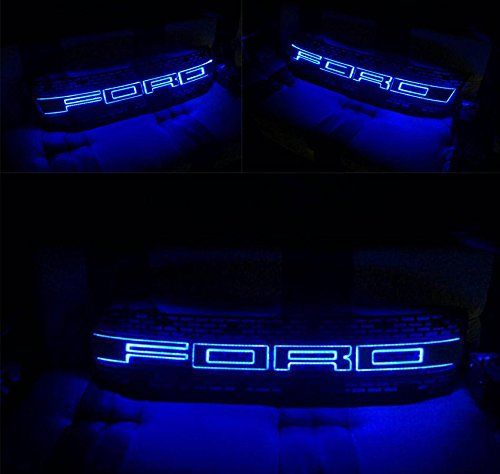 Ford Ranger T6 12 13 14 15 Front Raptor Abs Black Lit Blue Led On