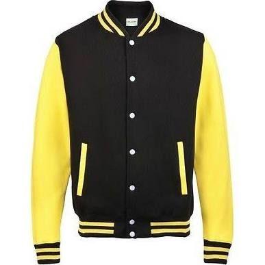 Black And Yellow Sports Jacket Baseball Varsity Jacket Varsity Jacket Varsity Letterman Jackets