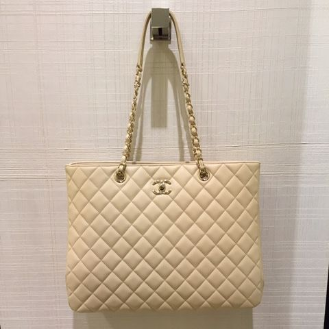 6840756ede4 Chanel Beige Timeless Classic Tote Bag   Bags   Pinterest   Chanel ...