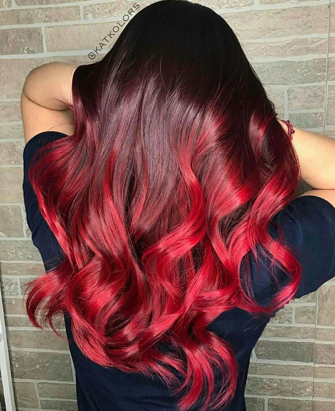 Pin By Nonie Chang On Dyed Hair In 2019 Red Hair Color