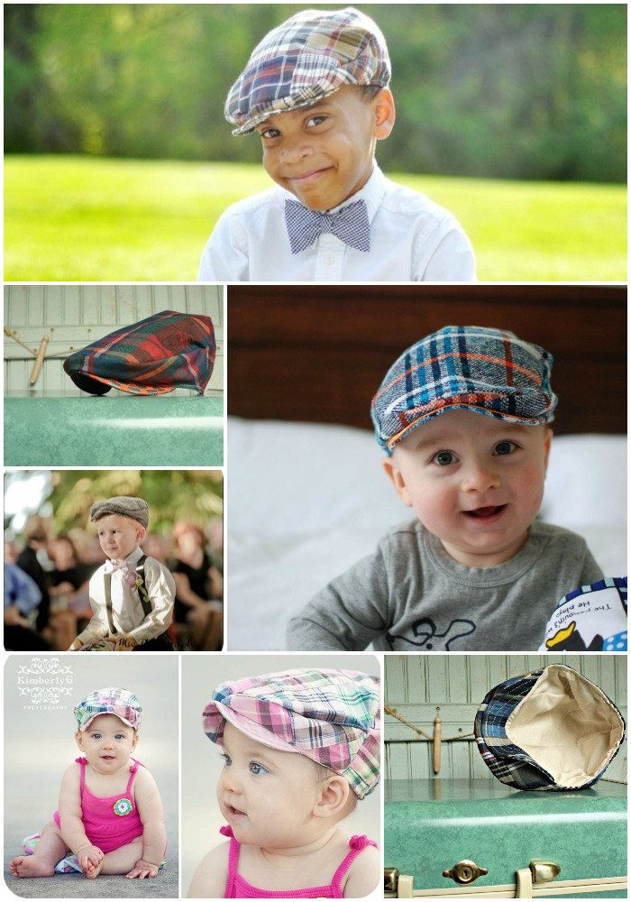 d6f624fbd83 Newsboy Hat PDF Pattern - Boys Flat Cap 6 Months to Pre-Teen - Baby Toddler  Childrens Hat Sewing Pattern.  8.50