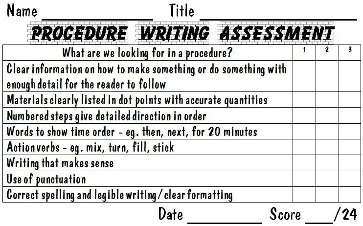 procedure essay rubric This rubric delineates specific expectations about an essay assignment to students and provides a means of assessing completed student essays.