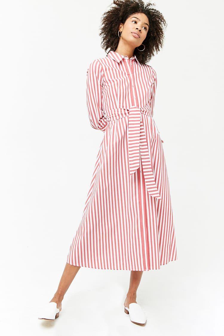 116a41f80683 Striped Maxi Shirt Dress in 2019 | Fashion Finds (Wishlist) | Maxi ...