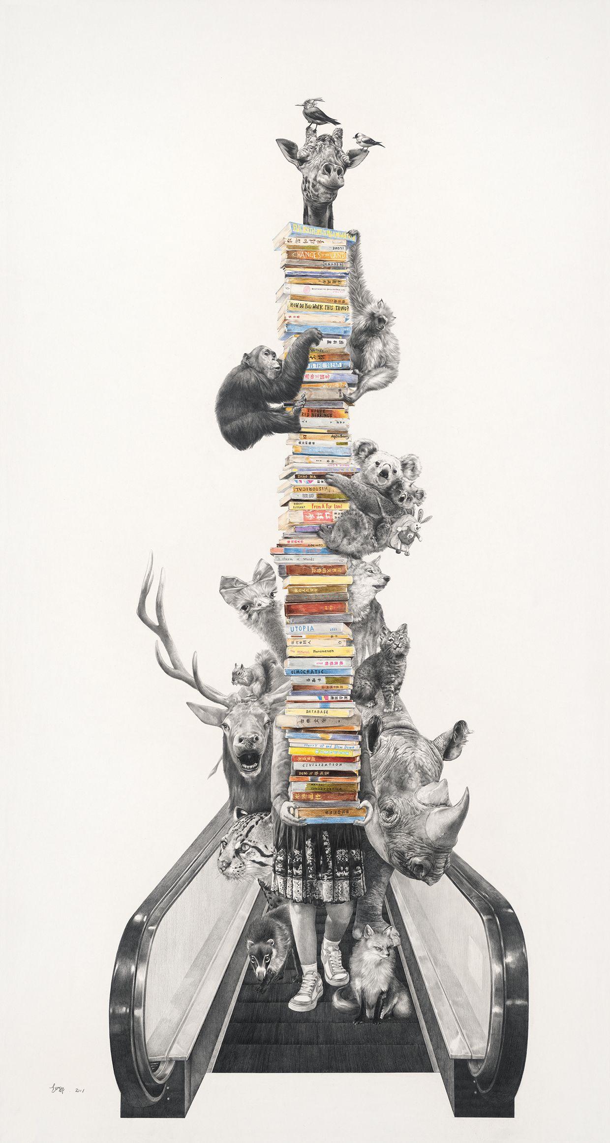 """""""平行国度 Parallel Country"""" by zhao na  #illustration #painting #art #design #animals #life #detail"""