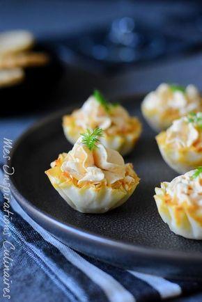 Tartelettes apéritives à la pâte phyllo | Le Blog cuisine de Samar