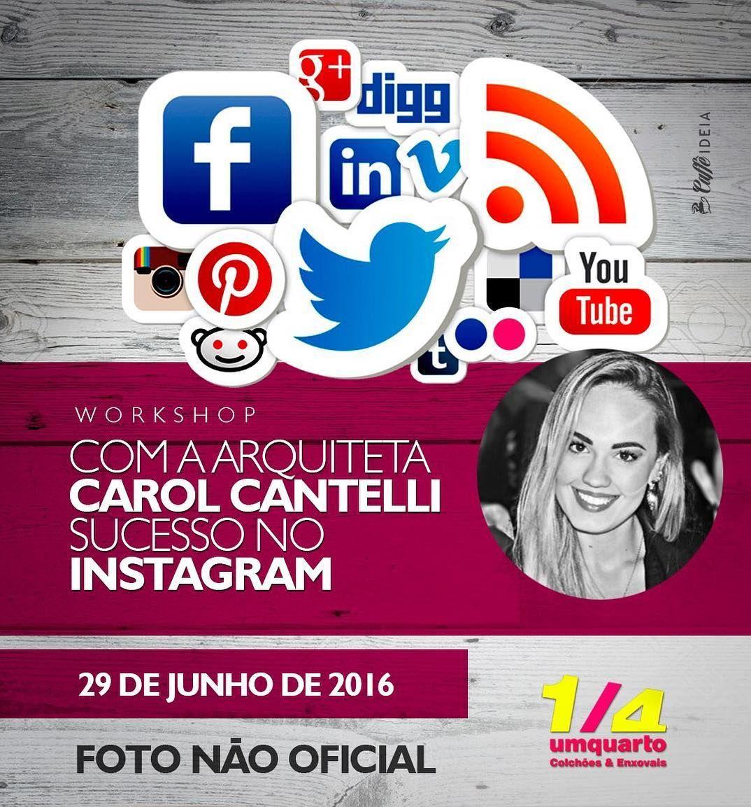 Alô CAMPO GRANDE  Conforme expliquei no Snap!   Quer ganhar um convite para o meu workshop do dia 29/06?!  Participe do nosso sorteio seguindo as seguintes regras: Marque 3 amigos de preferência arquitetos e designers nos comentários da foto oficial que encontra-se no instagram da @umquarto_cochoes Curta a foto oficial Siga @umquarto_cochoes no instagram Siga @carolcantelli_interiores no instagram  Corre porque a promoção é até as 12:00 do dia 27/06.  Boa sorteee!!