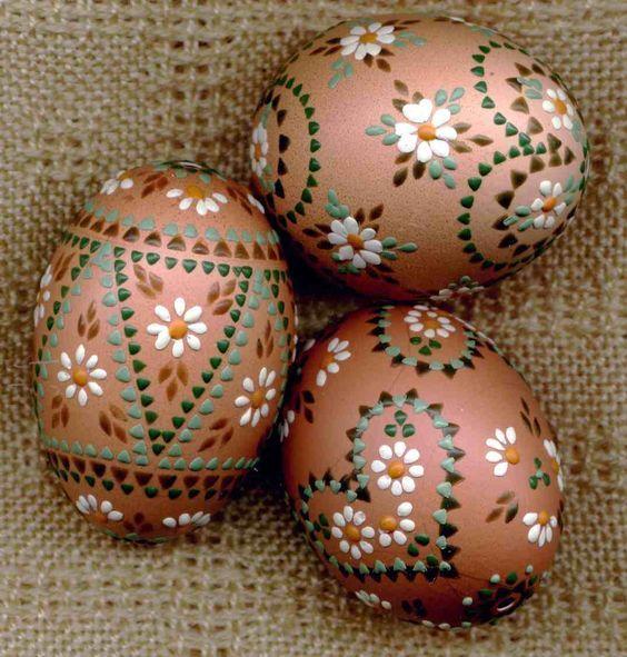 Decorated Easter Eggs, copper Eggs Pinterest Huevo, Huevos - huevos decorados
