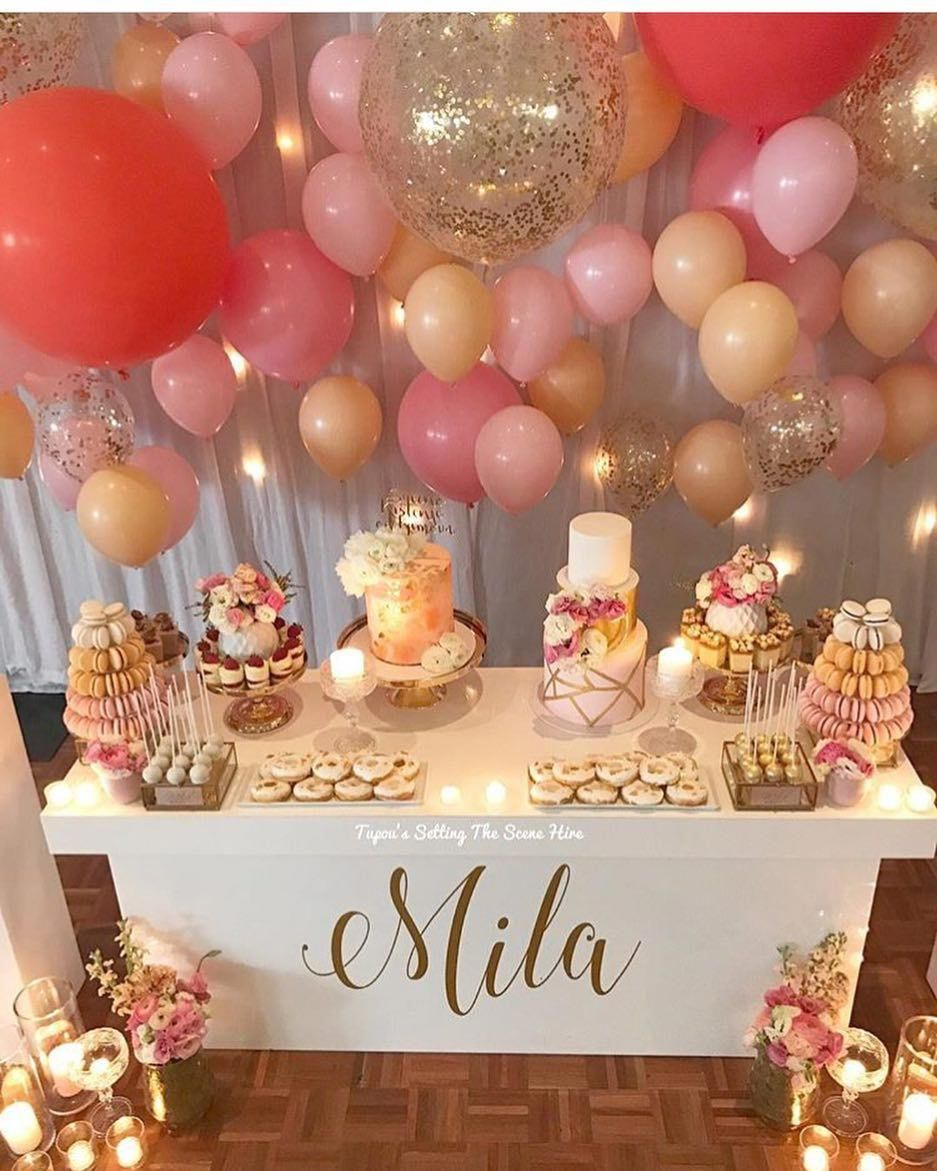 Mais Uma Linda Inspiracao Por Tupous Setting The Scene Com Bakeaboocreations Tlswe Baby Shower Party Decorations Girl Baby Shower Party Baby Shower Parties