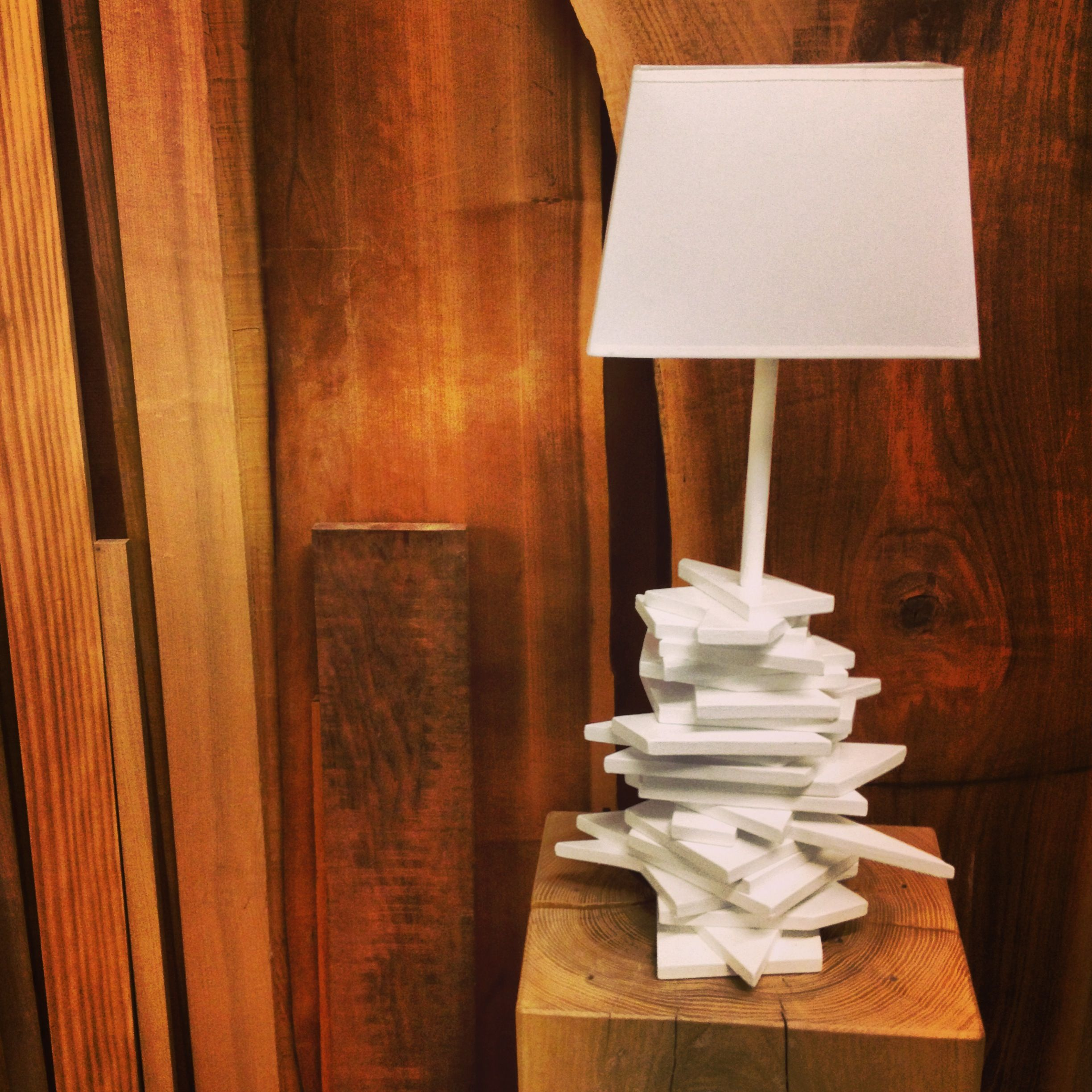Diy lamp made from scratch out of cut wood copper for How to make a lampshade from scratch